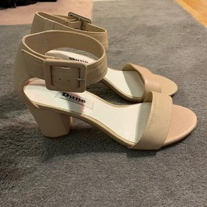 Brand new Dune London nude block heel sandals